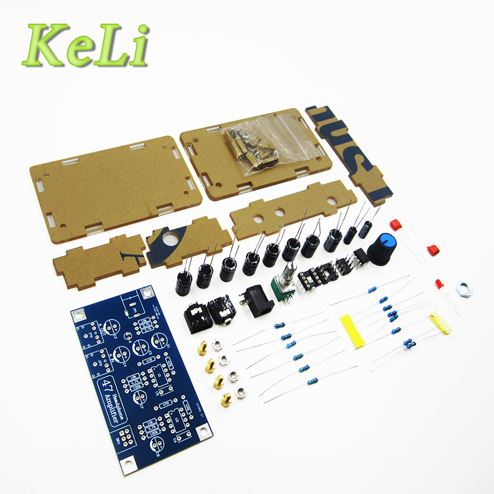 new 1set Headphone Amplifier Board Kit AMP Module Kit For Classic 47 DIY with case lson mini amplifier module board red