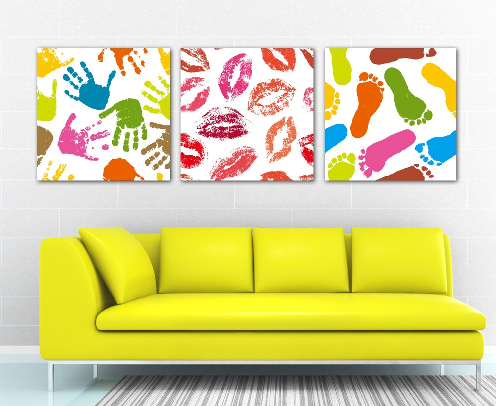 HOME DECOR High Precision wall printing Set of 3 Fingerprint ...