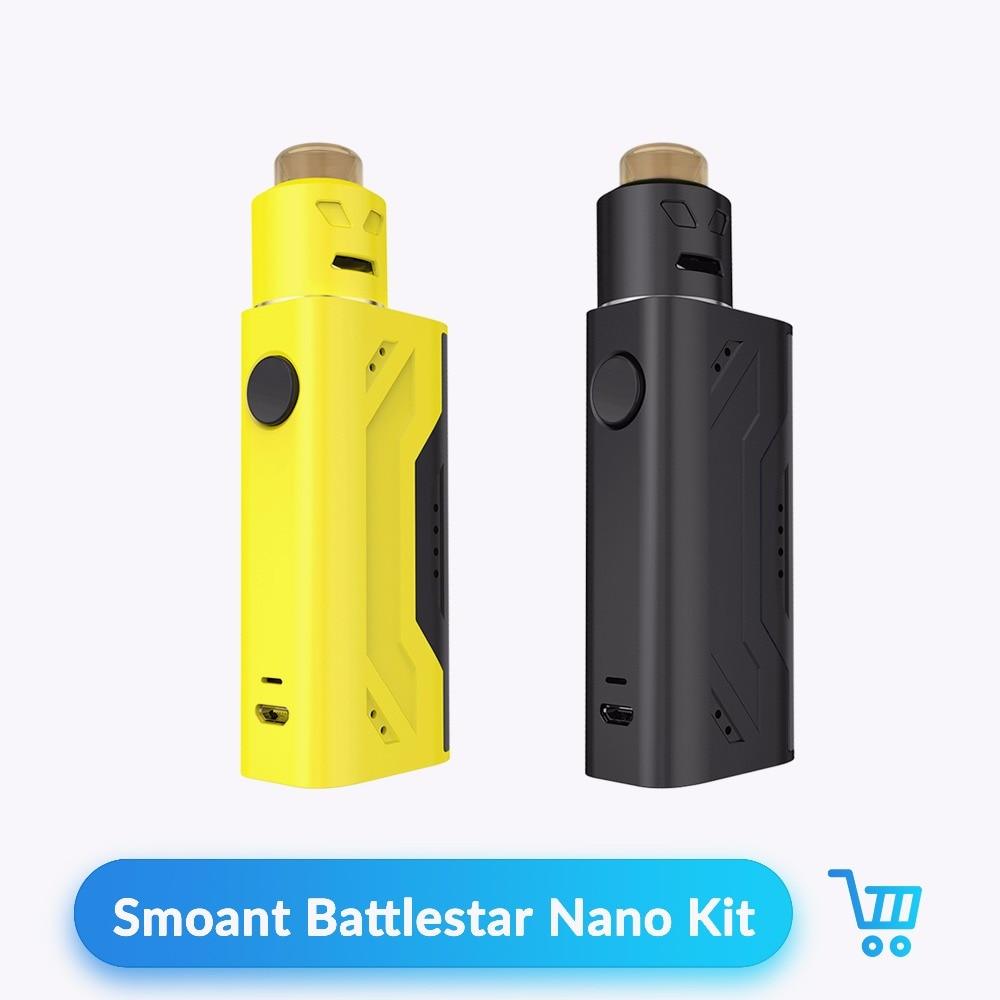 Original Smoant Battlestar Nano Kit Vape Box Mod with RDA Tank Atomizer 80W 18650 Battery for Vaporizer Electronic Cigarette Kit