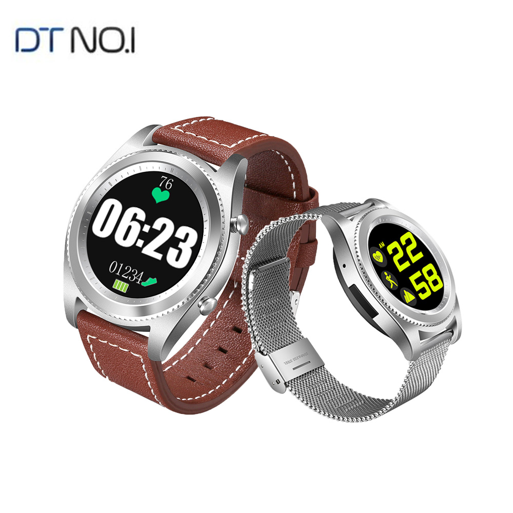DTNO.1 S9 GPS MTK2502C Touch Smartwatch Heart Rate Monitor Bluetooth4.0 Smart Watch Bracelet Wearable Devices For IOS Android