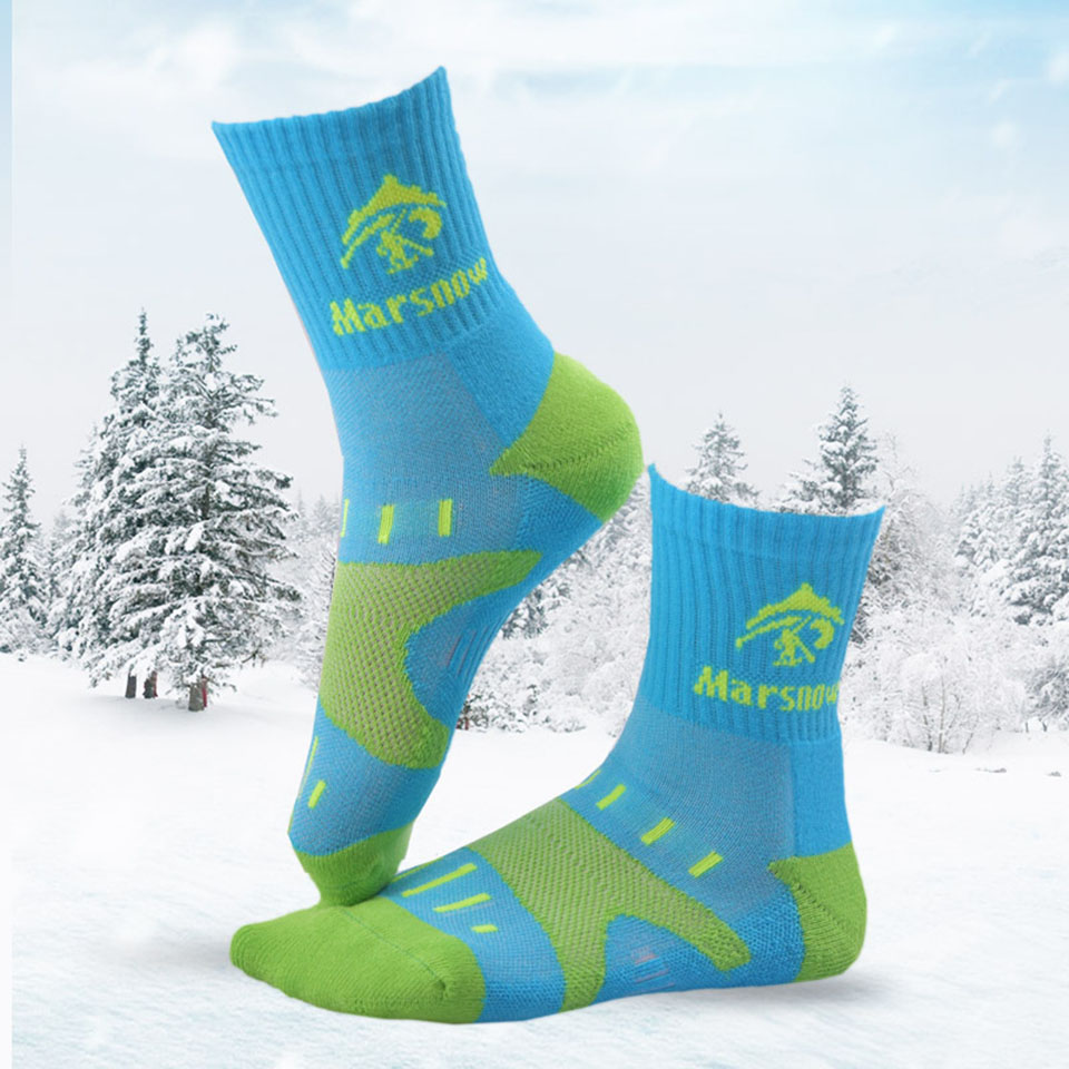 Marsnow Winter Ski Socks Cotton Keep Warm Men Women Children Cycling Socks Cotton Soft Breathable Running Hiking Outdoor Socks ...