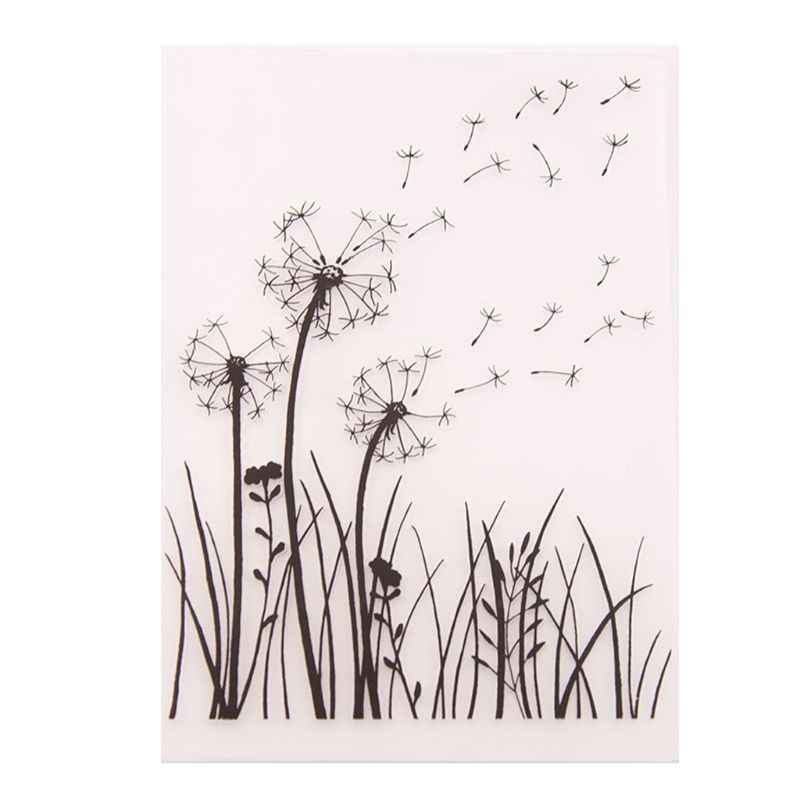 Plastic Embossing Folder Template DIY Scrapbook Photo Album Card Making Decoration Crafts Dandelion