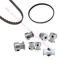 One Set GT2 Timing Belt GT2 Timing Pulleys 16Teeth 20Teeth 5mm 8mm Bore For UM2 Ultimaker2
