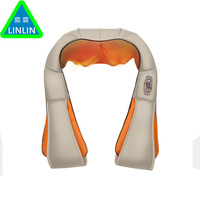 LINLIN New U Shape Electrical Shiatsu Back Neck Shoulder Healthy Massager Body Infrared 3D Kneading Massage