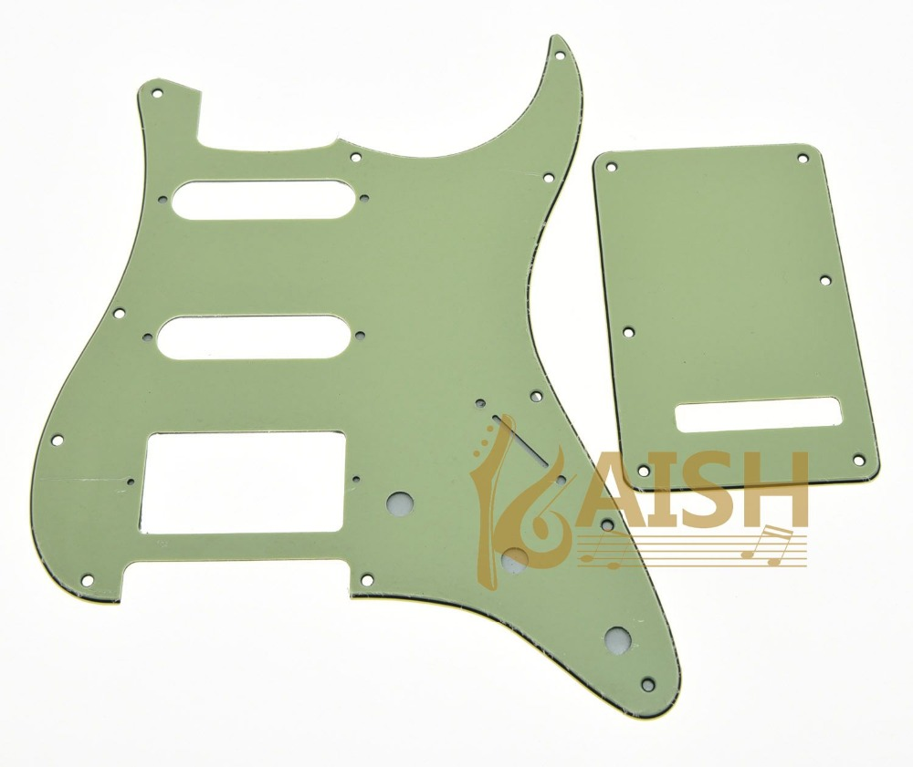 Mint Green ST Style HSS Guitar Pickguard Scratch Plate,Trem Cover, Screws kaish various colors st style hss guitar pickguard scratch plate trem cover screws