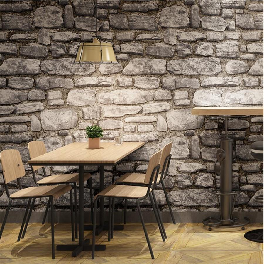 Us 28 4 29 Off Papier Peint 3d Retro Brick Pattern Brick Wallpaper Living Room Bedroom Hot Pot Shop Hair Salon Clothing Store Special Wallpaper In