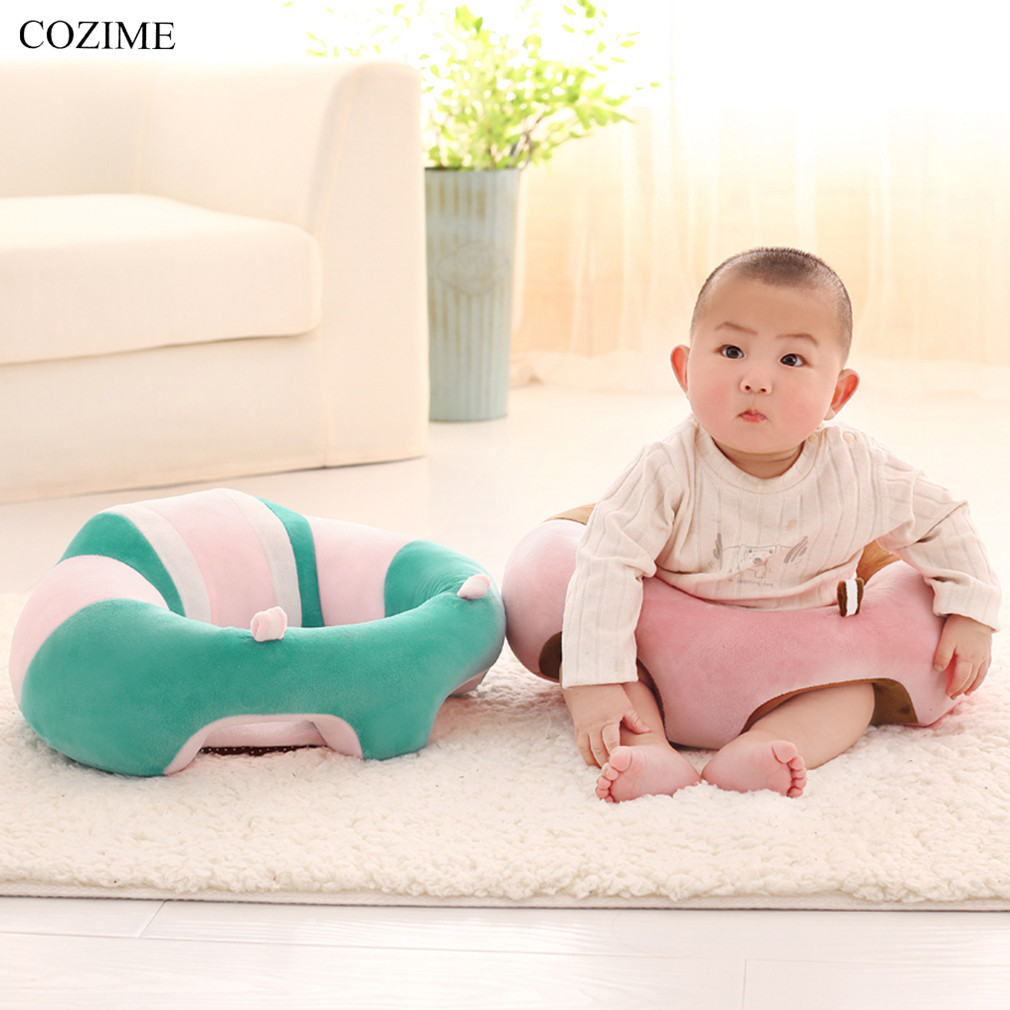 COZIME Newborn Baby Chair Seat Sofa Infant Baby Dining Lunch Sofa Safety Comfortable Cotton Plush Legs Feeding Portable For 3-8M