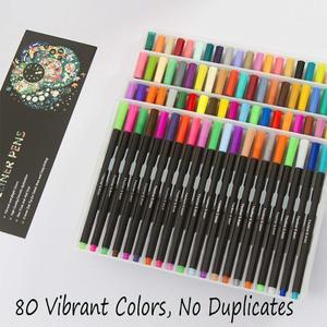 Image 3 - Acquerello Marcatori Fineliner Penna di Colore Set 80 Colori 0.4 millimetri Disegno Schizzo Penne Poroso Fine Point Colorazione Marker per Larte supporto