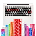 EUA Layout Russo Letras Adesivos de Teclado para Macbook Pro 13 15 17 polegadas/Macbook Air 13 Tampa do teclado de Silicone Protetor da pele