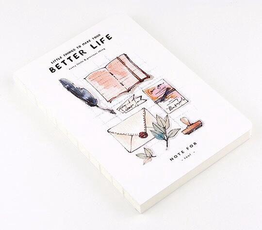 Diseño vida preciosa acuarela cuaderno tema 12.5*18.5 cm 80 páginas ...