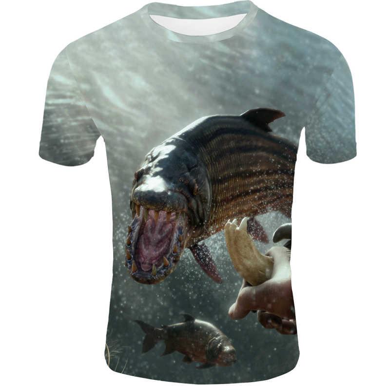魚 3d プリント tシャツメンズ 2019 新夏カジュアル男の Tシャツオフホワイトトップスティーおかしい tシャツストリート男性 11 色