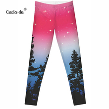 Drop ship S-XL Hot Women Aurora Skye Neon Purple Leggings MIlk Galaxy leggings Plus Size girl
