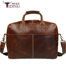 цены men handbags real leather 2017 new fashion brand man brown cow leather business dress casual briefcase handbags male laptop bags
