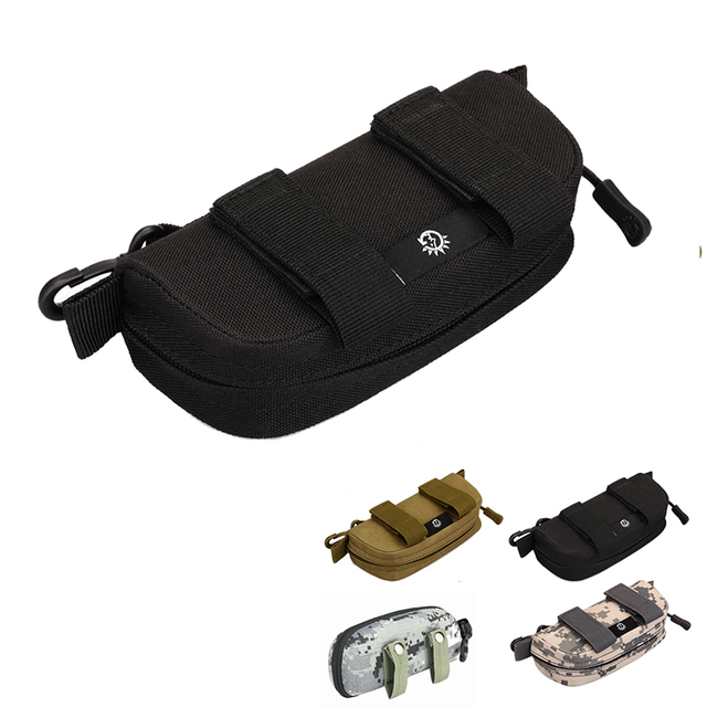 5 Style Tactical Outdoor Portable Sunglasses Case Military MOLLE Goggle Pouch Camouflage Tactics Goggles Storage Glasses Box