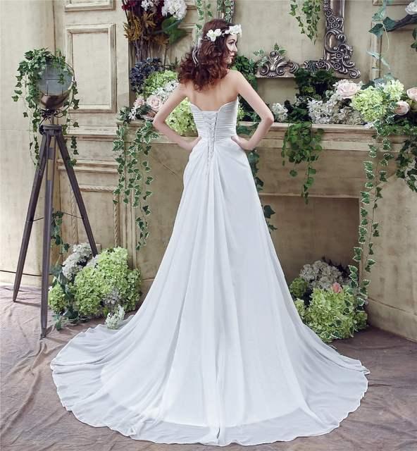 f6beb27fd placeholder Cheap Wedding Dress Boho 2019 Strapless Vestidos Novia A Line  Chiffon Bridal Dresses Custom Made Online