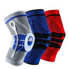 1 piece sports knee pads support silicone spring protector brace basketball volleyball pad dance kneepad