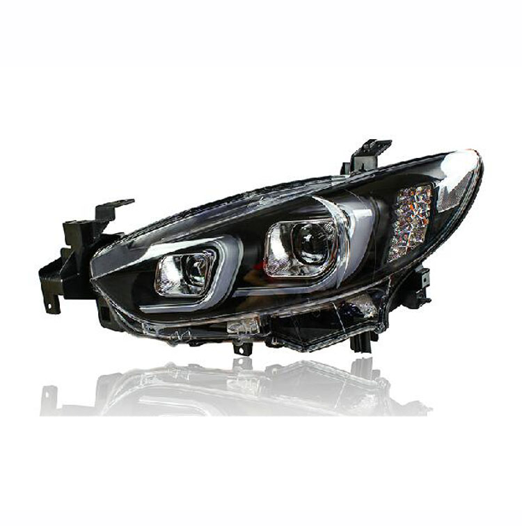 Ownsun New Eagle Eyes LED DRL Bi-xenon Projector Lens Headlights For Mazda 6 Atenza 2014 ownsun new style tear drop led projector lens headlight for new ford focus 2012 2013