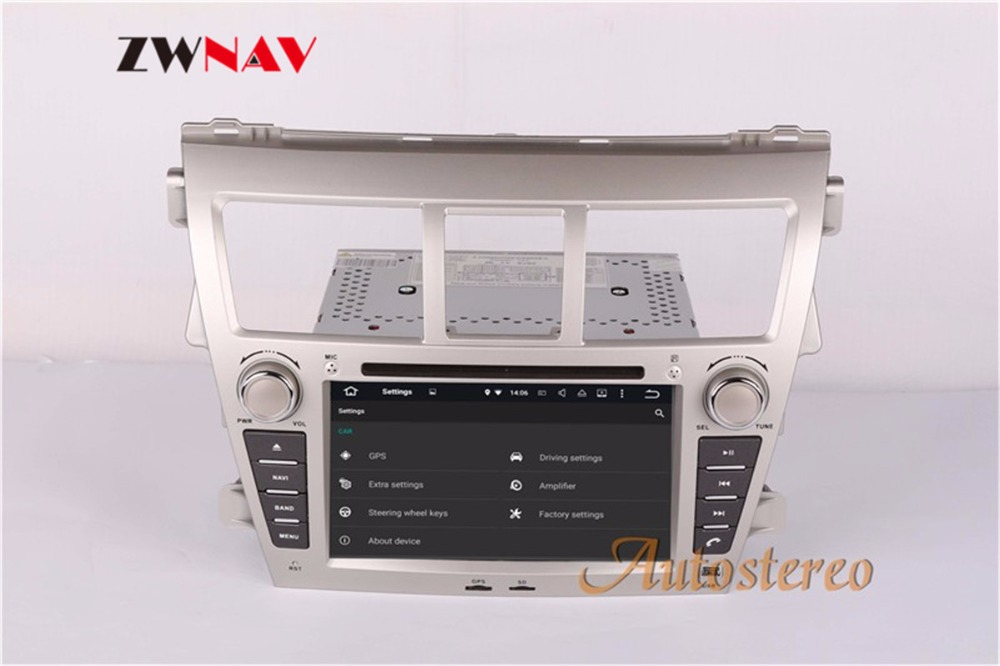 Best ZWNAV Android 8.0 Car Stereo Radio DVD Player GPS Navigation For TOYOTA Yaris Sedan 2006-2012 Vios 2007-2012 Belta 2005-2008 5