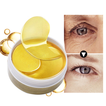 Gold Eye Mask Sleep Mask Collagen Eye Patches Dark Circles Eye Care Mask Face Skin Care Anti-Wrinkle Moisture Eye Masks 2pcs pack collagen eye masks gold aquagel collagen eye mask ageless sleep mask eye patches dark circles