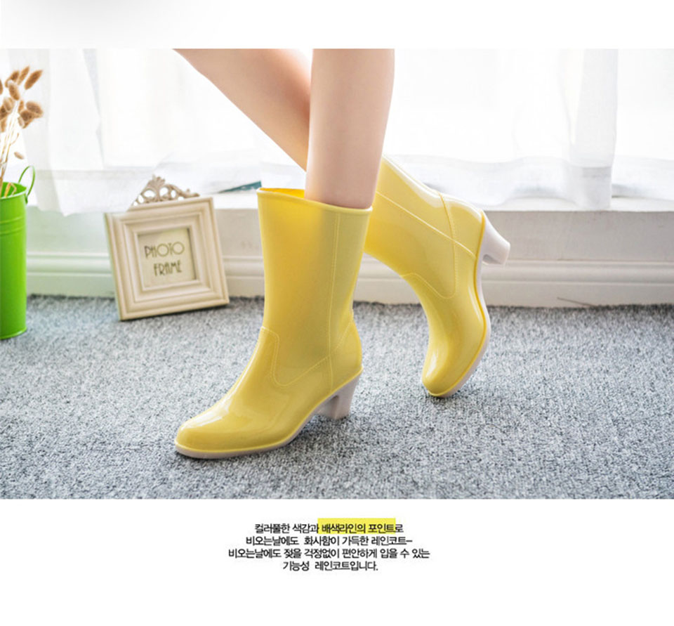 cfcacc6046f3 2388.74 руб. 36% СКИДКА|желтый дешево слипоны дождь коренастый обувь желе  Японский мех ...