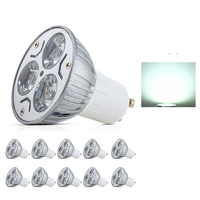 10X LED Bulb Light Cold/Warm White GU10 3W LED Spot Light AV85~265V High Brightness LED Lampada High brightness lamp Spot light