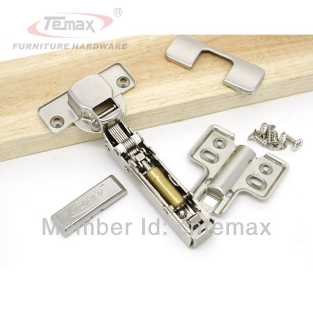 12Pcs 35mm cup Full Overlay Soft Close Hydraulic Hinges For Cabinets Cupboard Kitchen Temax Door Hinge