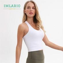 Imlario Slim Fit Gym Yoga Muscle Tank Top Vital Solid Fitness Running Crop Women Racerback Sports Commute T Shirt Sleeveless