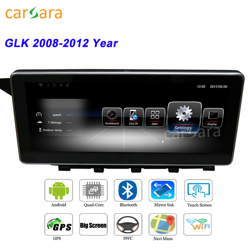 Lecteur multimédia DVD Android Merce dans la voiture Navigation stéréo GPS pour Ben z GLK 2008 2009 2010 2011 2012 remplacement