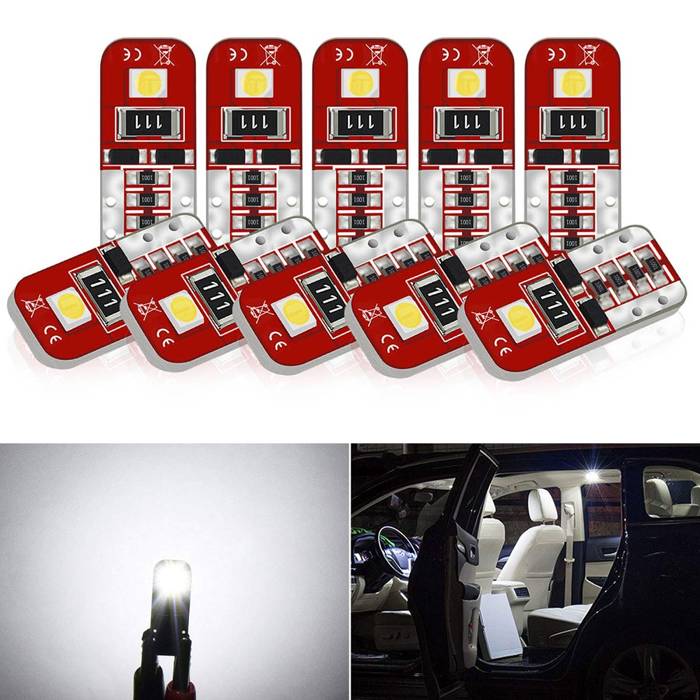 10x T10 Led W5W Car Interior LED Bulb Canbus For Toyota C-HR Corolla Rav4 Yaris Avensis Camry CHR Auris Hilux Prius Celica Ipsum image