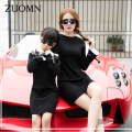 Korea Style Mother Daughter Dresses Black Family Look Matching Outfits Kids Clothes Mom And Daughter Baby Girls Dress GH275