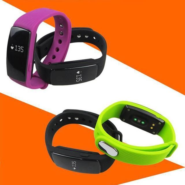 ID107 Smart Wristband Watch Heart Rate Monitor Remote Bluetooth Smart Band Bracelet Pedometer Fitness Smart Wristband Reminder