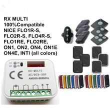 1XUniversal 2 channel receiver fits Nice Smilo NICE FLOR-S remote transmitter Free Shipping remote control remote nice flor flor s flo2r s flor s flo2r s 433 92mhz