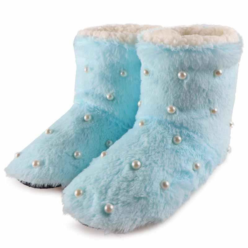 Kadın Kış Çizmeler Orta Buzağı Bootie Kürk Botları Ev Ayakkabı Kadın noel hediyesi Sıcak Kapalı Ayakkabı Bayanlar Flat2019 Bota Feminia