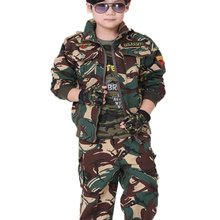 Scouting-Uniforms Child Camouflage-Suit Spring For110cm-155cm And Autumn Students