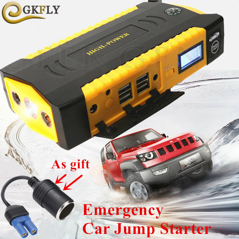 High Power 16000mAh Car Jump Starter Power Bank 600A Petrol Diesel Starting Device 12V Mini Car Charger For Car Battery Booster