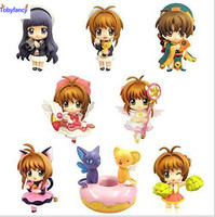 Tobyfancy Anime CARDCAPTOR SAKURA Action Figure Li SYAORAN Keychain PVC Collectibles Model Toy For Gifts