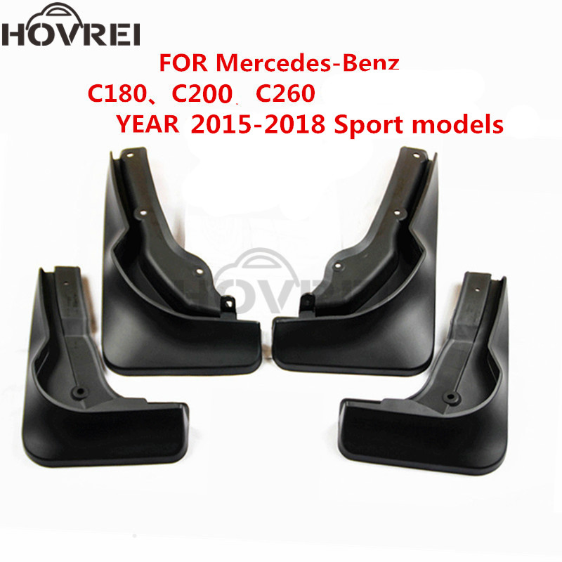 For Mercedes Benz W246 B200 B Class 2015 2016 2017 Front: 4pcs/set Car Splash Guards Mud Flaps Fender Mudguard For