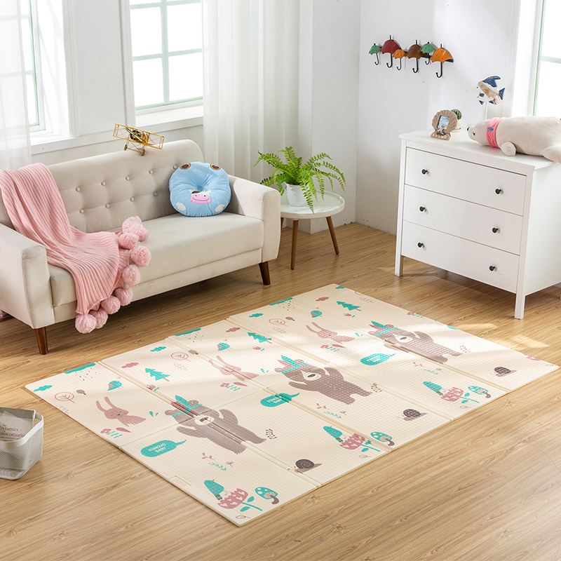 Image 5 - Infant Shining Foldable Baby Play Mat Thickened Tapete Infantil Home Baby Room Puzzle Mat  XPE 150X200CM Splicing 1CM Thickness-in Play Mats from Toys & Hobbies
