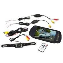 EDFY ЖК-Монитор Монитор Автомобиля 7 дюймов Зеркало Заднего Вида + Беспроводной Камеры Заднего Обзора