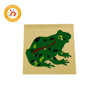 3D Animals Puzzle Jigsaw Board for Kids Toys Montessori Children Plants Educational Teaching Aids Wooden Puzzles Game BO003