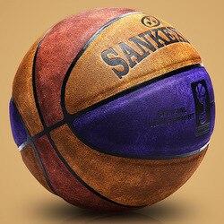 Новинка, высокое качество, Размер 7, баскетбольные мячи из искусственной кожи, 4 вида цветов для соревнований на открытом воздухе/в помещении...