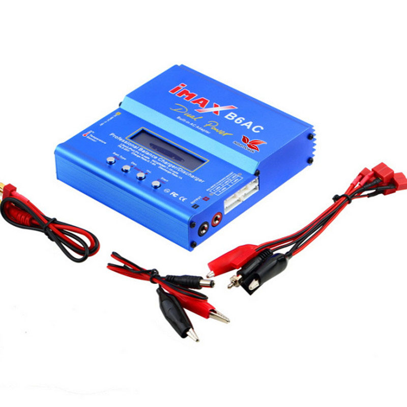 Build-Power New iMAX B6 AC 80W B6AC Lipo NiMH 3S/4S/5S RC Battery Balance Charger + EU/US plug power supply wire