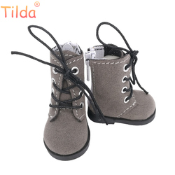 Tilda 5cm Shoes For Dolls BJD Toy Casual Boots 1/6 Retro Shoes for EXO 20cm Korea KPOP Plush Dolls Accessorries for Doll Toy