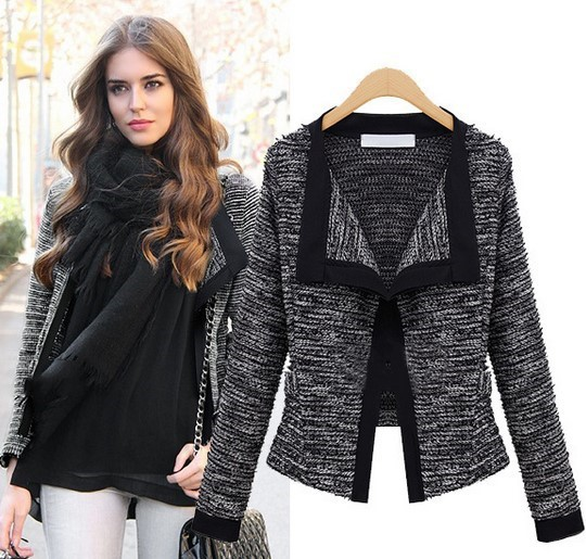 Popular Ladies Tweed Cardigan-Buy Cheap Ladies Tweed Cardigan lots ...