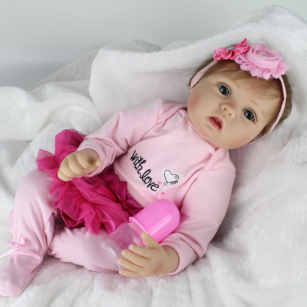 22''/55cm Newborn Reborn Soft Silicone Reborn Baby Dolls ...