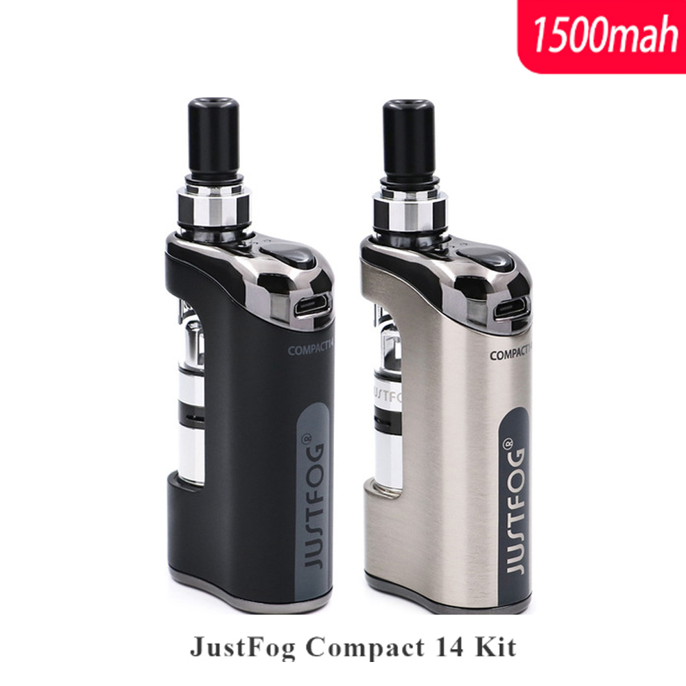 E Cigarette Kit Compact 14 Kit 1500 mah batterie intégrée avec 5 pièces Justfog Bobine vs Justfog Q16/Q14 Kit