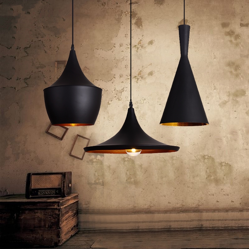 2016 new pattern american country style art pendant light retro hanging lamp black 110v 220v with american country style font