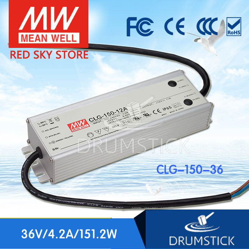 100% Original MEAN WELL CLG-150-36 36V 4.2A meanwell CLG-150 36V 151.2W Single Output LED Switching Power Supply [Real6] original meanwell nes 350 36 ac to dc single output 350w 9 7a 36v mean well power supply nes 350