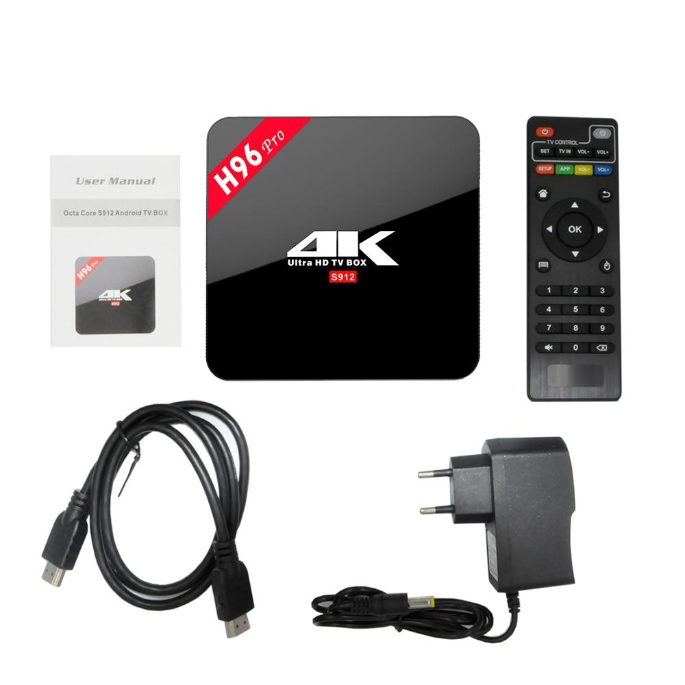 ФОТО H96 PRO 3G/16G Android 6.0 TV Box Amlogic S912 64bit Octa Core H.265 4K Wifi 2.4G/5.8GH Bluetooth4.0 Kodi Media Player