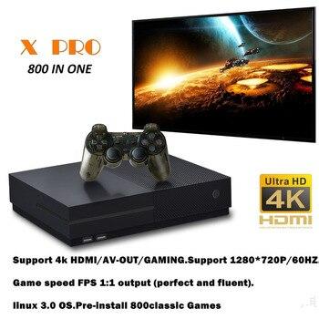 2021 HD XPro 4K выход Ретро семейная ТВ-игра встроенные 800 классических игр 64-битная игровая консоль для PS1/CPS/GBC/SMS